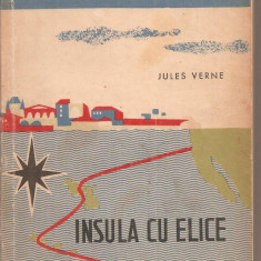 (C4947) INSULA CU ELICE DE JULES VERNE, EDITURA TINERETULUI, 1962, TRADUCERE DE ION HOBANA