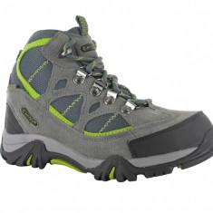 Ghete Hi-Tec pentru trekking, drumetii, munte - Ghete copii Hi-Tec, Marime: 31, Culoare: Gri, Unisex