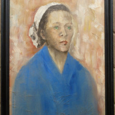 Portret de femeie - semnat  M.Goian 1962