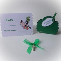 Pachet botez (kit 25 marturii, carduri de asezare, cruciulite) - verde