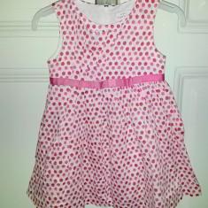 Rochita de vara cu buline roz, marca Mayoral Chic, fete 2 ani, Culoare: Multicolor