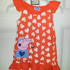 Rochita de vara vesela cu Peppa Pig, fete 12-18 luni, Culoare: Multicolor