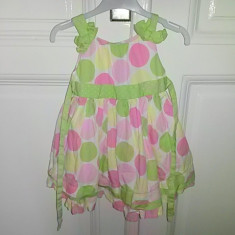 Rochita de vara cu buline colorate, marca Maggie and Zoe, fete 2 ani, Culoare: Multicolor