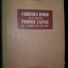 V.I. Sirik, Fabricarea untului si a altor produse lactate , 1955