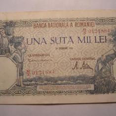 100000 lei 1946 Decembrie XF - Bancnota romaneasca