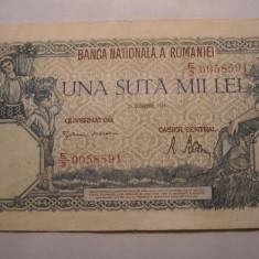 100000 lei 1946 Octombrie - Bancnota romaneasca