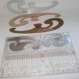 Lot 6  FLORARE Herlitz si Kum Acrylic Topaz, diferite dimensiuni, pentru desen tehnic