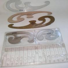 Lot 6 FLORARE Herlitz si Kum Acrylic Topaz, diferite dimensiuni, pentru desen tehnic - Set rechizite