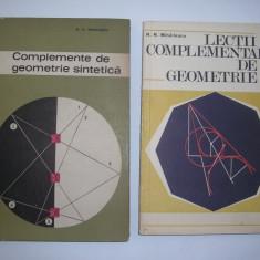Lectii complementare de geometrie /Complemente de geometrie sintetica