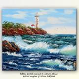 Far la malul marii (2) - tablou ulei 60x50cm, livrare gratuita in 24h - Tablou autor neidentificat