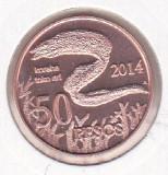 bnk mnd Insula Pastelui 50 pesos 2014 unc , fauna marina