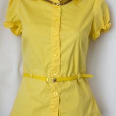 Bluza stil camasa de la ORSAY, marimea S - Camasa dama, Culoare: Galben, Maneca scurta, Casual, Galben, S