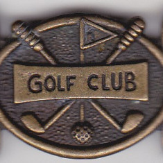 Pafta, Catarama veche GOLF CLUB cu nr de ordine pe verso