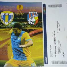 Program + bilet meci fotbal PETROLUL PLOIESTI - VIKTORIA PLZEN 31.07.2014 Europa League