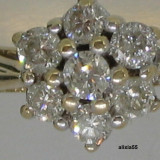 INEL AUR 18K CU 0.50 CT DIAMANTE IN FORMA DE FLOARE, 57 - 67