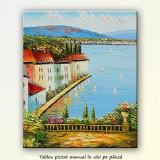 Tablou Golf la Mediterana 2 (60x50cm) - Pictor roman, Peisaje, Ulei, Altul