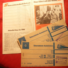 2 Bilete vechi deTren- Viena-Bucuresti, in etui special cu instructiuni