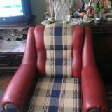 Set canapea extensibilă cu două fotolii, model făcut la comandă, stare foarte bună - Set mobila living