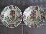 Cumpara ieftin Lot de 2 farfurii ceramica de agatat pe perete, pictate manual Korund , Corund , Stema Ungariei