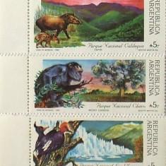 ARGENTINA 1989 - FAUNA 5 VALORI, NEOBLITERATE - E2091