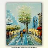 Paris - scena stradala 4 - tablou ulei 60x50cm, livrare gratuita in 24h - Tablou autor neidentificat