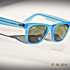 Ochelari de soare Ray Ban RB2140 887/96 albastru transparent mat