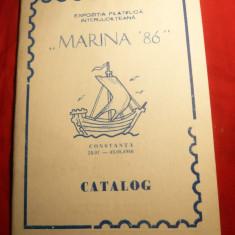 Catalog Expozitie Filatelica Marina '86, 29 pag.