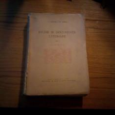 STUDII SI DOCUMENTE LITERARE -- I. E. Toroutiu, Gh. Cardas - Vol. I -- XIII - Studiu literar