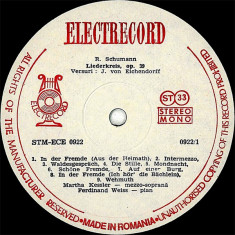 Robert Schumann_Johannes Brahms - Liederkreis, Op. 39 / Vier Ernste Gesänge, Op. 121 (Vinyl) - Muzica Opera electrecord, VINIL