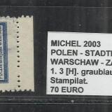 POLONIA - 1. 3[H] GRAUBLAU.GEZ.-11 1\2 - STAMPILAT, Altele