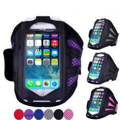 Husa  telefon pentru alergare, bicicleta, diverse., Allview V1 Viper, Negru, Polyester, Apple
