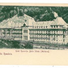 482 - L i t h o, Bacau, SLANIC MOLDOVA, Hotel Racovita - old postcard - unused - Carte Postala Moldova pana la 1904, Necirculata, Printata