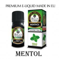 Arome de tigari electronice-Mentol 0 % nicotina