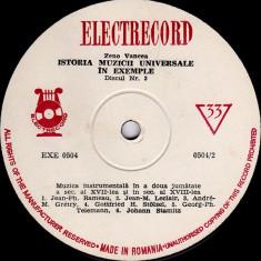 Zeno Vancea - Istoria Muzicii Universale In Exemple Nr. 3 (Muzica Instrumentala In A Doua Jumatate A Sec. Al XVII-lea, XVIII-lea) (Vinyl) - Muzica Clasica electrecord, VINIL