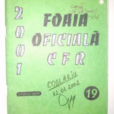 Foaia oficiala C.F.R. - Ed. Feroviara 2001