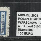 POLONIA - 4. 6H.AUF3[H].GRAUBLAU.GEZ.-11 1\2 - STAMPILAT, Altele