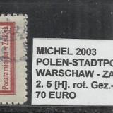 POLONIA - 2. 5[H].ROT.GEZ.-11 1\2 - STAMPILAT, Altele