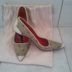 Pantofi Cesare Paciotti - Pantof dama Cesare Paciotti, Culoare: Bej, Marime: 37, Bej