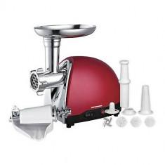 Masina de tocat Heinner MG1500TA-Red, 1500W, adaptor de suc de rosii si carnati - Masina de Tocat Carne
