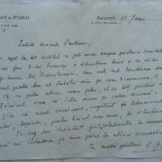 Scrisoare olografa a lui C-tin Costa Foru, 1924, aroman, Cercetasii Romaniei - Autograf