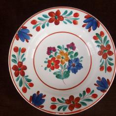 Farfurie veche din portelan, Hollohaza, de la sfarsit de sec. XIX.Rereducere! - Arta Ceramica