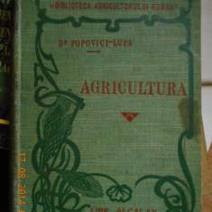 Carte foarte veche de agricultura - anul 1908