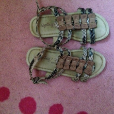 Sandale piele ecologica Next, ca noi, mar. 28 - Sandale copii Next, Fete, Piele naturala