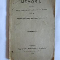RARAITATE! MEMORIU ASUPRA BISERICII KRETZULESCU DIN BUCURESCI,CALEA VICTORIEI FACUT DE LT.COL.ALEX.STEFANESCU-KRETZULESCU ED.PRINCEPS 1896