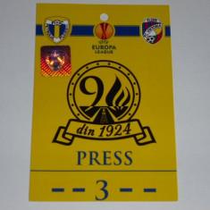 Acreditare meci fotbal - PETROLUL Ploiesti - VIKTORIA Plzen - Europa League 2014 - Bilet meci