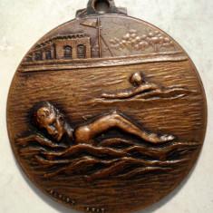 5.375 MEDALIE ROMANIA RPR CCFS NATATIE CAMPIONATUL NATIONAL DE FOND ALBERT ARAD - Medalii Romania, An: 1950