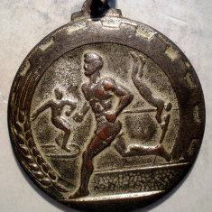 5.377 MEDALIE ROMANIA CCFS RPR CONCURS ATLETISM JUNIORI 1953 LOCUL I 37mm - Medalii Romania