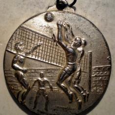 5.378 MEDALIE ROMANIA RSR VOLEI ARAD 1968 I 37mm ALUMINIU - Medalii Romania