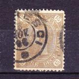 Timbre ROMANIA  1890/* 45 f = CAROL I CIFRA IN 4 COLTURI VAL. 15 bani