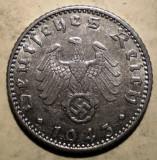 D.352 GERMANIA WWII AL III-LEA REICH 50 REICHSPFENNIG 1943 A, Europa, Aluminiu